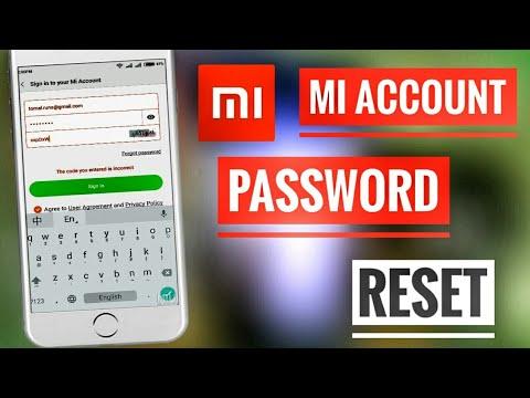 Mi account password forget  how to reset