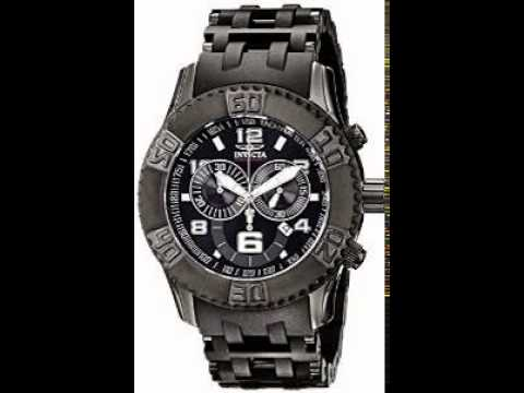 Invicta Men's 6713 Sea Spider Collection Chronograph Black Ion-Plated Watch OS28