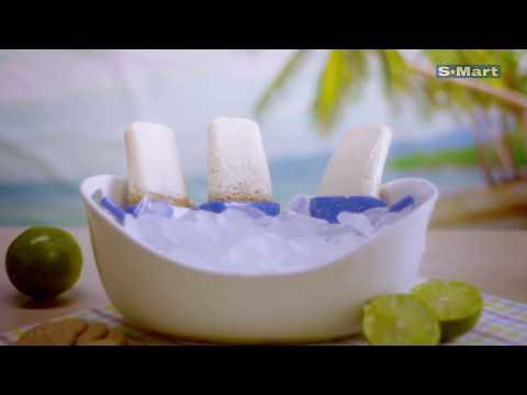 Paletas de pay de limón y yogurt