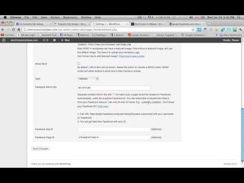 Installing Facebook Like Wordpress Plugin