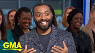 Chiwetel Ejiofor talks prosthetic cheekbones and flying with Angelina Jolie l GMA