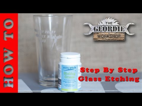 Apply Glass Etching Stencil To Glassware Armor Etching Cream