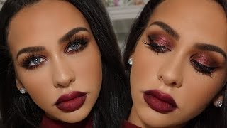DARK CHERRY MAKEUP TUTORIAL | VALENTINE