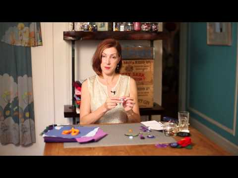 Instructions for Felt Brooches : Crafty Days