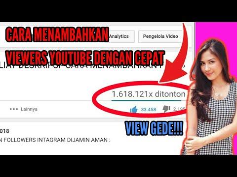 Cara Cepat Mendapatkan 100 Ribu viewers Di Youtube Dengan Aman😎
