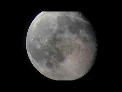 250mm Big Binocular Observations moon