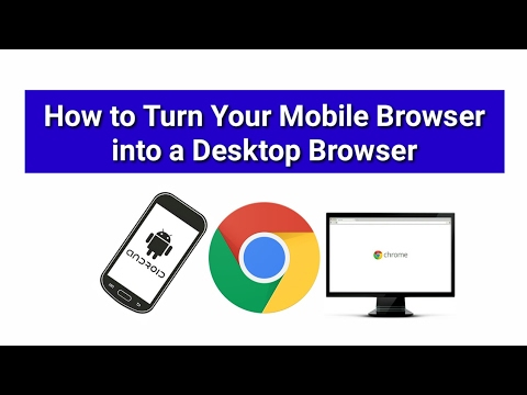 How to Make your Google Chrome Mobile Browser into a Desktop Browser (Android Tip)