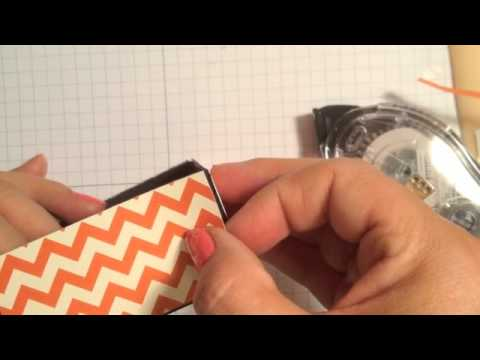 Stampin' Up! Video Tutorial- Easy Spooky Bingo Bits Halloween Treat Box