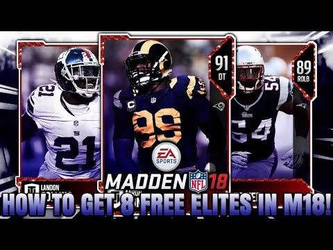 HOW TO GET 8 FREE ELITES DAY ONE OF MADDEN 18! | MADDEN 18 ULTIMATE TEAM FREE ELITES
