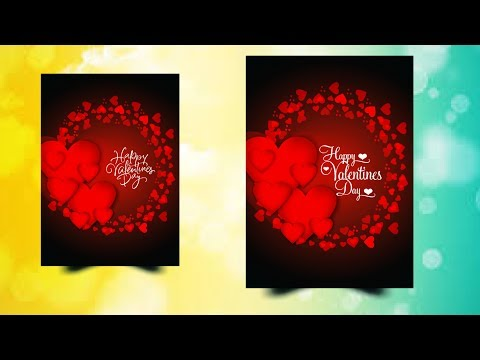 Coreldraw X7 Tuturial - How to Design Valentine Day Card Best Tips By AS GRAPHICS