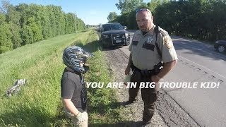 Dirt bikes Vs Cops