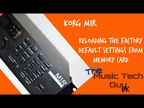 Korg M1R - Reloading the factory default settings from memory card