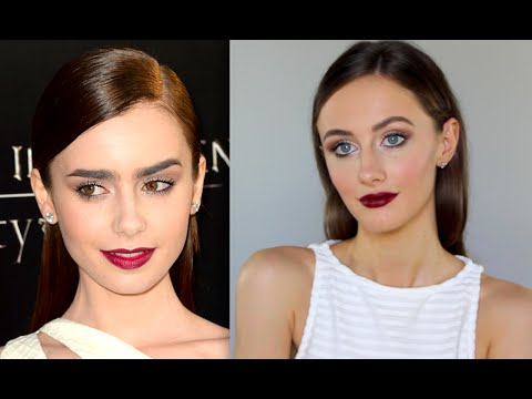 Lily Collins Makeup Tutorial | MAC Diva Lipstick