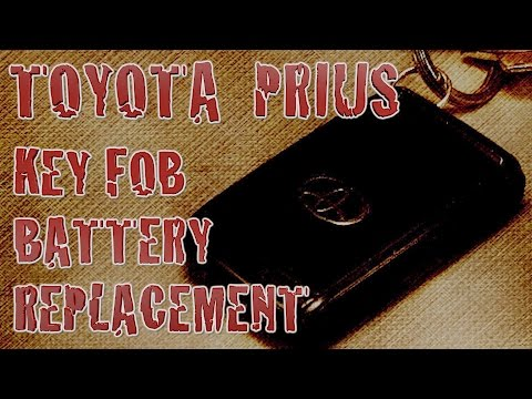 How To Replace 2004 Toyota Prius Key Fob Battery