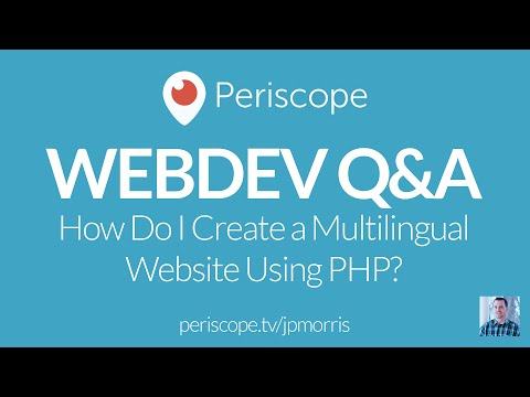 [LIVE Q&A] How do I create a multilingual website using pure PHP?