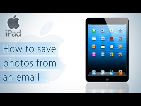 iPad - How to save photos from an email