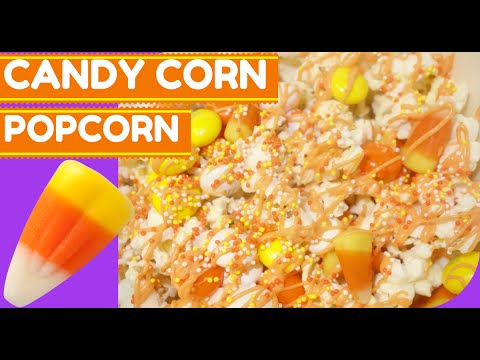 BEST Candy Corn Popcorn Fall Treat DIY + Biggest Giveaway win private Halloween Party!
