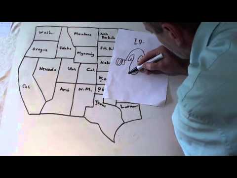 How to remember 50 US states