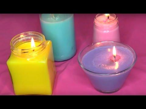 DIY Colorful Crayon Candles (NO WAX)