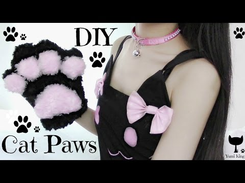 DIY Cat Paws | Fluffy Paws | Halloween DIY