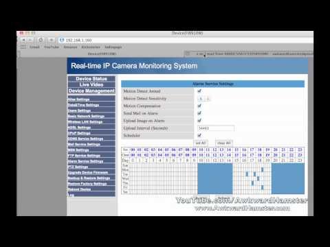 How to Setup Foscam e-mail Notification & Motion Detection