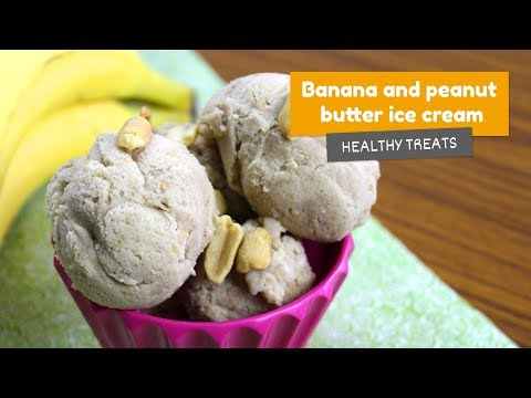 Banana and peanut butter ICE CREAM 🍨 • Healthy treats #5
