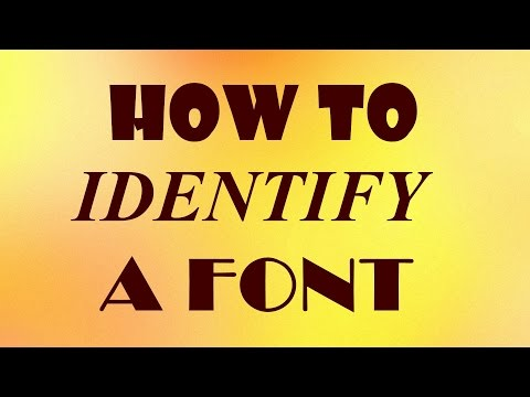 How to Identify a Font
