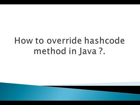 How to override hashcode method in Java ?.