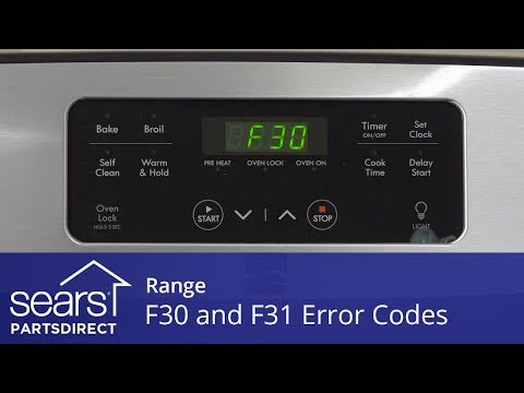 Troubleshooting F30 and F31 Error Codes on a Range