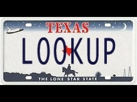 Texas License Plate Lookup