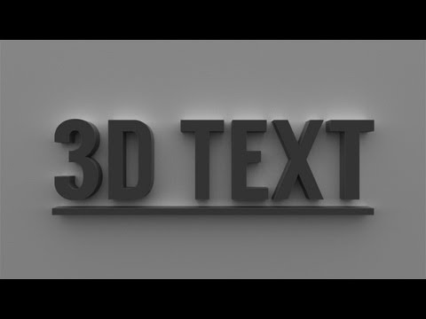 3D Text in Photoshop CS6 And CC Tutorial