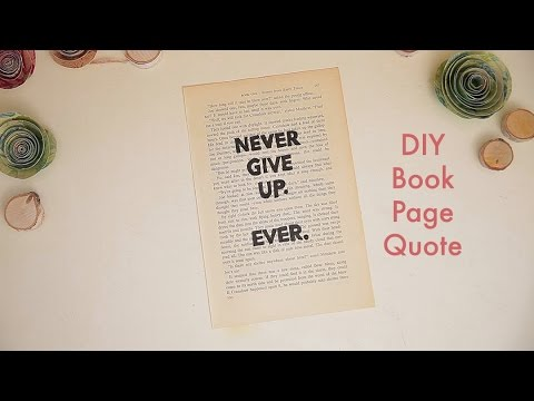 DIY Book Page Quote