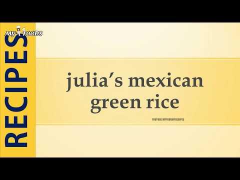 julia's mexican green rice