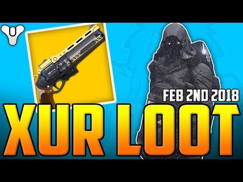 Destiny  - Xur Sells THE LAST WORD ! - Xur's Loot & Location - D1 & D2 - February 2nd 2018