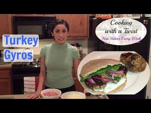 Greek Turkey Burgers - Ground Turkey Gyros - How to make Turkey Burgers/Gyros