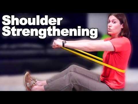 Shoulder Strengthening Exercises with a Resistive Band - Ask Doctor Jo
