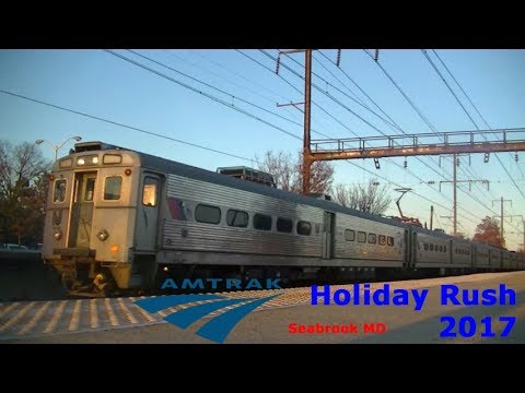 Amtrak Holiday Rush 2017 (ft. NJT Holiday Extra) | Seabrook MD 11/26/17