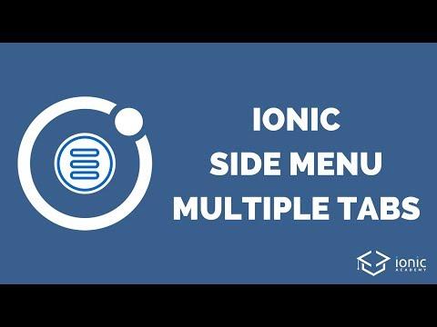Ionic Side Menu With Multiple Tab Bars