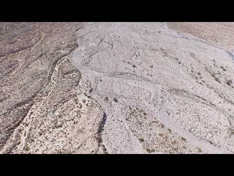 Drone flight over ancient irrigation system