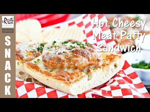 Hot Cheesy Meat Patty Sandwich | Roti n Rice