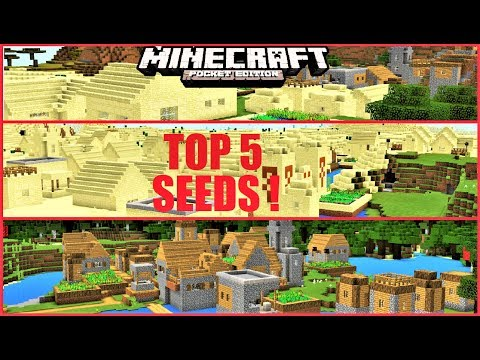TOP 5 BEST SEEDS for Minecraft Pokcet Edition 2018 ! STRONGHOLD, HUGE VILLAGES & MORE | MCPE 1.2.1