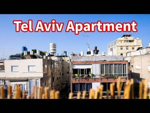 Living in Israel - TEL AVIV APARTMENT TOUR | Amazing Rooftop Terrace!