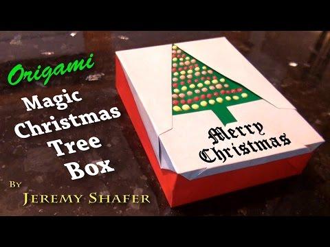 Origami Magic Christmas Tree Box
