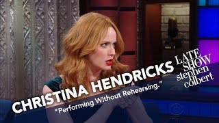 Christina Hendricks Went Numb Before Singing With Stephen