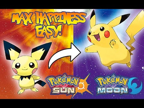 How To Evolve Pichu | Riolu | Etc in Pokémon Sun and Moon | Max Happiness Easy!