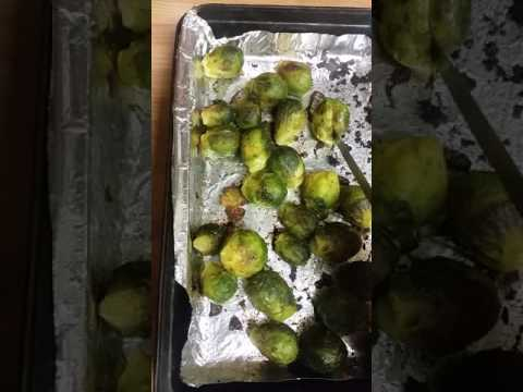 Oven roasted Brussel Sprouts  (frozen bag)