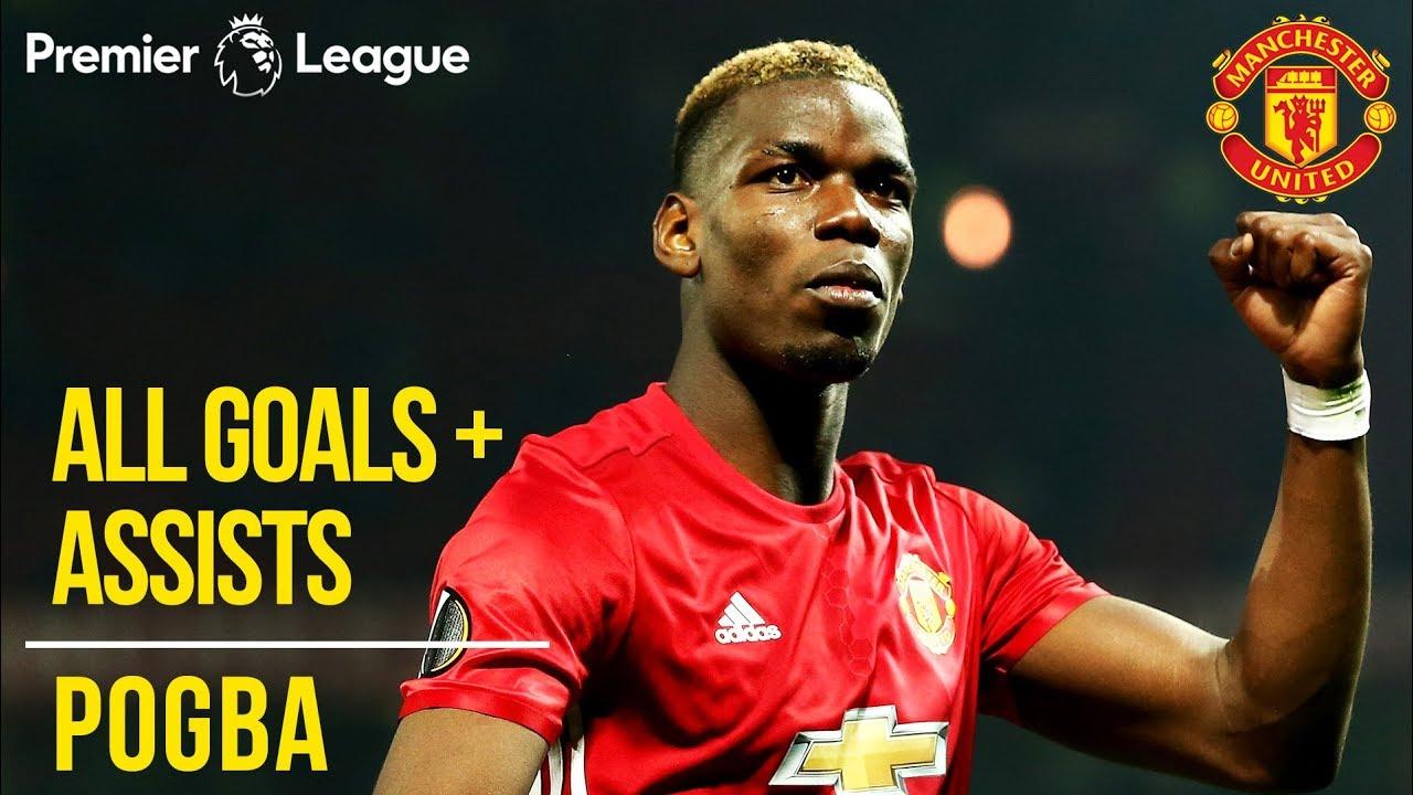 Paul Pogba   All Premier League Goals + Assists   Manchester United   WC 2018