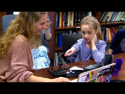 Syracuse girl gets 3-D prosthetic arm from college students