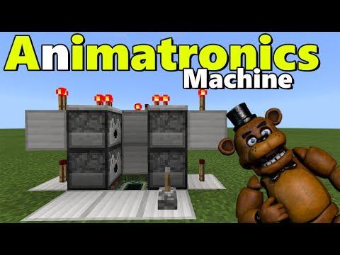 ANIMATRONICS MACHINE TUTORIAL | Minecraft PE (Pocket Edition) FNAF Pets Addon
