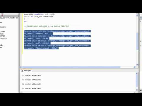 CREAR TABLAS EN SQL SERVER 2008